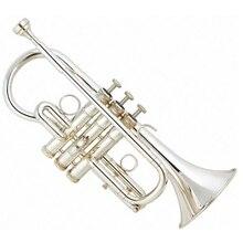 Professional Grade Silver plated Tone Eb Cornet