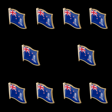 10PCS New Zealand Patriotic National Lapel Pin Metal Badge Brooch Tie Clip/Clothes Accessories Value Pack