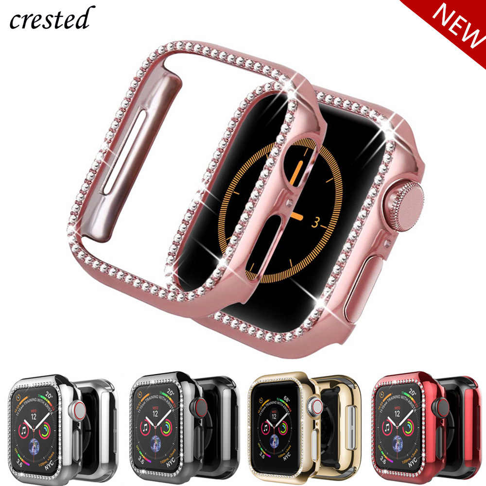 Bling bumper For Apple watch Case cover Apple watch 4 44mm 40mm 42mm 38mm Diamond Protector case iWatch 4 3 2 1 Accessories 38