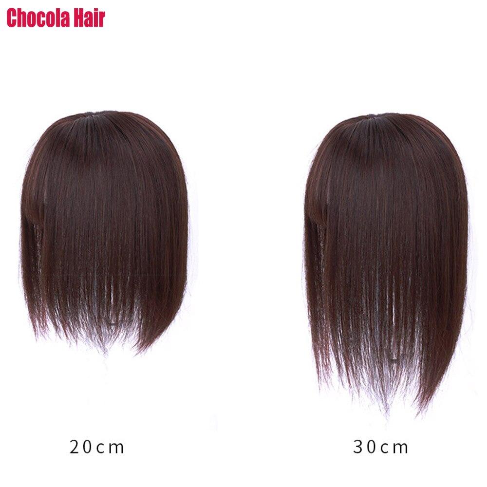 topper bang peruca de cabelo 100% grampo