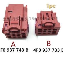 1pc 4F0 937 733 B for Volkswagen Audi seat wiring harness plug male female 10pin 4F0 937 743 B