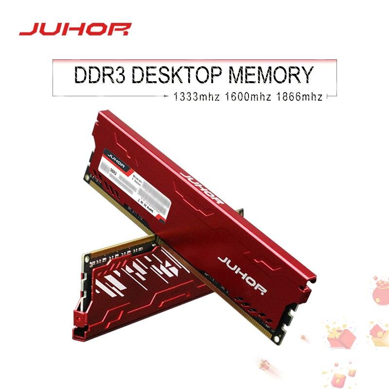 JUHOR DDR3 8GB Memoria Ram 1333 1600 1866 DDR3 Memory Desktop Dimm With Heat Sink