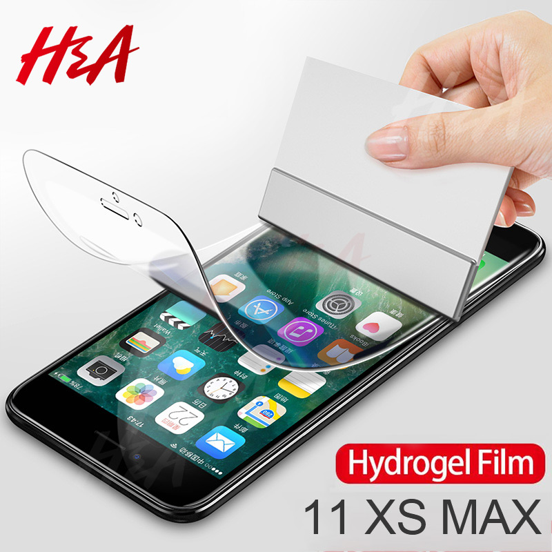 H&A 2Pcs 45D Hydrogel Film For IPhone X XS XR XS Max 11 Pro Max Screen Protector For IPhone 7 8 6 6s Plus Soft Protective Film