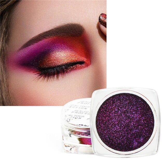 1 Box  Eyeshadow Glitter Chrome Eyeshadow Palette Powder Pigment Shiny Metallic Loose Eye Shadow Makeup Waterproof 1