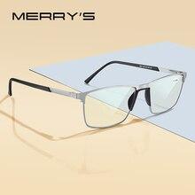 MERRYS gafas de lectura con bloqueo de luz azul para hombre, lentes CR 39 de resina, gafas asféricas + 1,00 + 1,50 + 2,00 + 2,50 S2001FLH