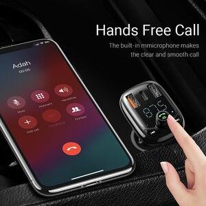 Image 2 - Baseus Carregador rápido veicular 4.0, transmissor FM Bluetooth mãos livres FM Modulador PD 3.0 Carregador de carro USB rápido para iPhone