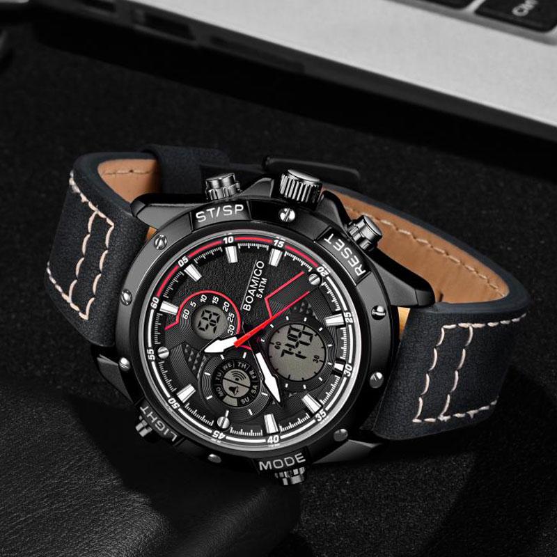 H73b9808a0fd24505bf891695f884493dA BOAMIGO Fashion Mens Watches men Military Digital analog Quartz Chronograph sport Watch  Waterproof wristwatch relogio masculino