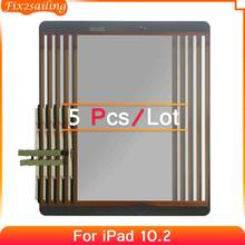 5pcs 100% Tested For iPad 7 10.2 2019 7th Gen A2197 A2198 A2200 Touch Screen Digitizer Outer Glass Panel Replacement No/With Key