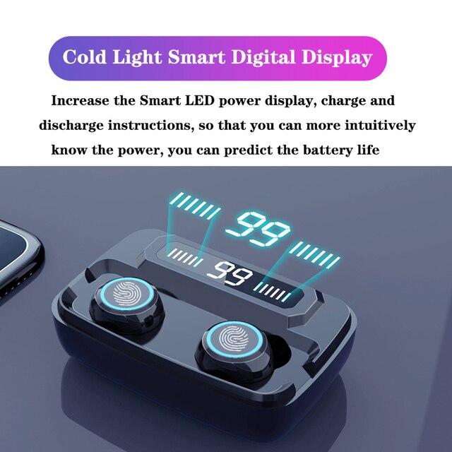 3500mAh LED Bluetooth Wireless Earphones Headphones Earbuds TWS Touch Control Sport Headset Noise Cancel Earphone Headphone 4