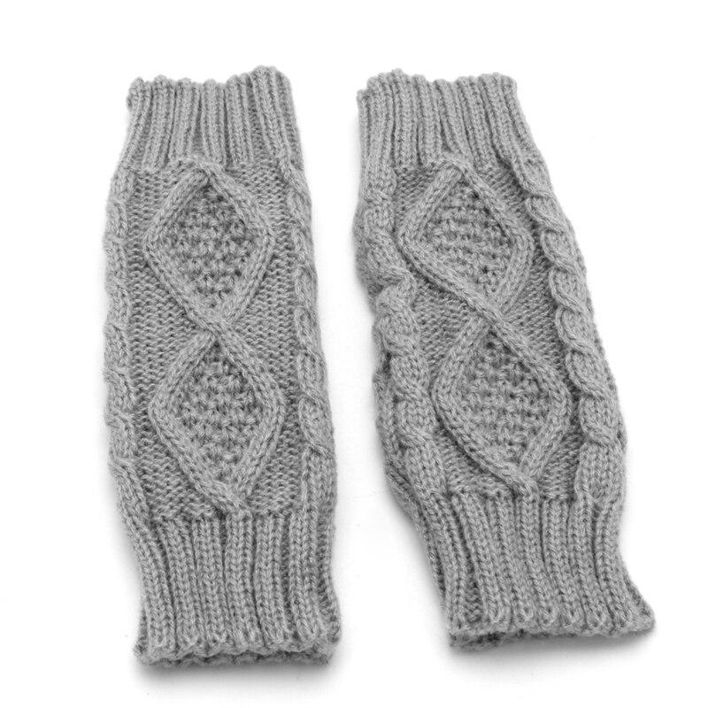 Winter Women Wrist Arm Hand Warmer Knitted Long Fingerless Gloves Mitten LX9E