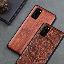 עבור Huawei Honor V30 צפה 30 מקרה Boogic מקורי עץ funda Huawei Honor V30 פרו Rosewood כיסוי טלפון מקרה עבור כבוד View30 פרו