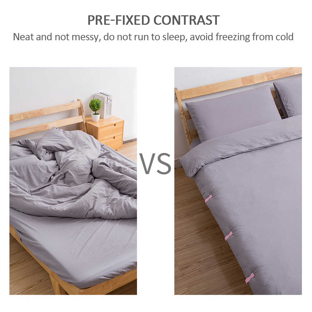 4x Clear Bed Sheet Quilt Cover Non-Slip Fixed Buckle Anti-Move Buckle Fixer