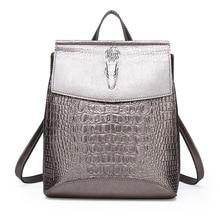 Fashion crocodile pattern personalized travel backpack PU leather women luxury backpack elegant ladies shoulder crossbody bag irregular pattern pu crossbody bag