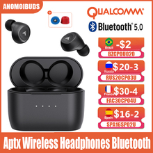 Anomoibuds QCC010 Max Aptx klawisz dotykowy słuchawki bezprzewodowe słuchawki Bluetooth słuchawki przewodowe redukcja szumów z mikrofonami