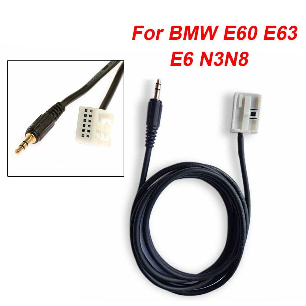 Adaptador de conector de Cable auxiliar para coche 3,5 MM para BMW E60 E63 E6 N3N8 accesorios Radio