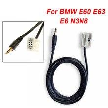 Adapter kabel samochodowy aux złącze 3.5MM dla BMW E60 E63 E6 N3N8 akcesoria Radio