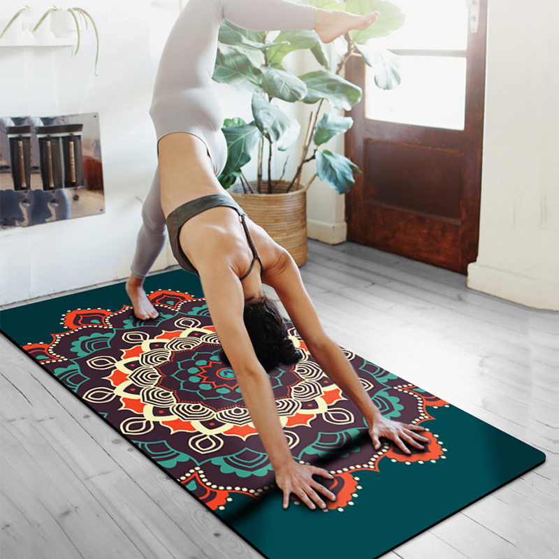 80CM Premium 6mm Print Extra Thick Exercise Fitness Mat For All Types Of Yoga Pilates Floor Workout Exercises 72