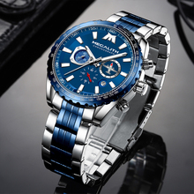 Relogio Masculino 2020 MEGALITH Sport Watch Men Aircraft Pointer Date Calendar Mens Watches Luxury Waterproof Quartz Watch Gents