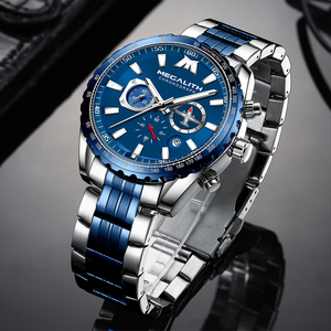 Image 1 - Relogio Masculino 2020 MEGALITH Sport Watch Men Aircraft Pointer Date Calendar Mens Watches Luxury Waterproof Quartz Watch Gents