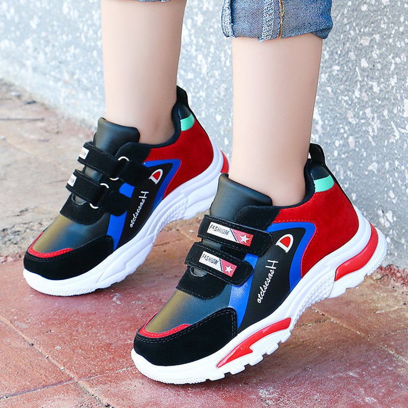 Hiking Shoes Kids Athletic Outdoor Sneakers Slip Resistant Tennis Boys Shoes