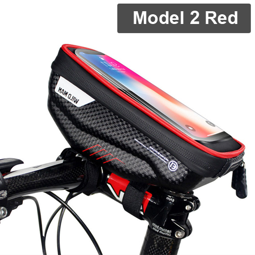 Negro winomo bicicleta de tri/ángulo de marco de bolsas de Impermeable bicicleta de esquinas de bolsa frontal de p/áginas de sill/ín de bolsas para el ciclismo al aire libre