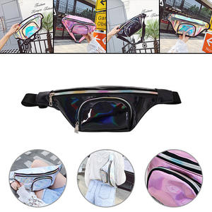 Belt-Bag Fanny-Pack Transparent Silver Black Fashion-Style Women New PVC Girl Punk Rainbow