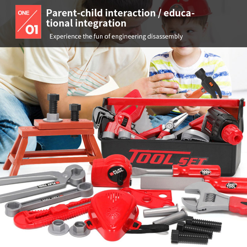 Kids Toolbox Kit Educational <font><b>Toys</b></font> Simulation Repair <font><b>Tools</b></font> <font><b>Toys</b></font> Plastic Game Learning Engineering Puzzle <font><b>Toys</b></font> Kid Gift Party <font><b>Toy</b></font> image