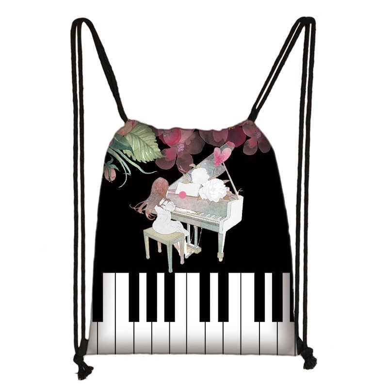 Piano/Gitaar Rugzak Muzieknoten Tasje Vrouwen Reistas Tiener Jongens Meisjes Opbergtas Kids Boekentas