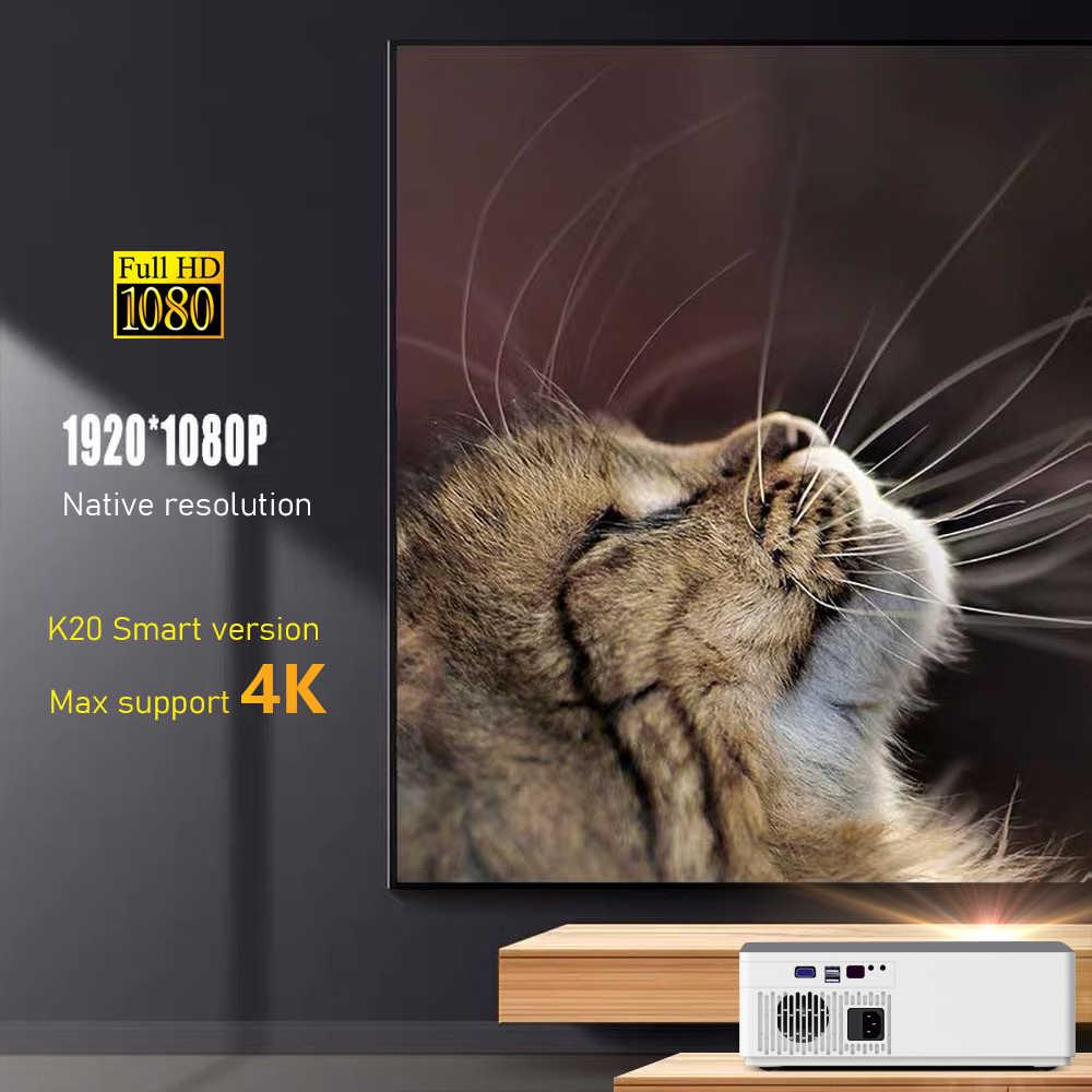 Ay K20 1920*1080 Full HD BYINTEK akıllı Android Wifi desteği AC3 300 inç LED Video projektör için USB ile ev sineması sinema