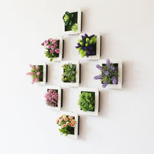 Factory direct simulation plant photo frame wall hanging Dγ simulation succulent plant wall Wall decoration artificial flower