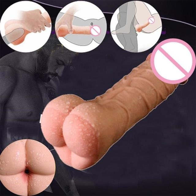 Soft Silicone Penis Extender Reusable Condoms Penis Sleeve Dick Cover Dildo Enlargement Male Cock Ring Adult Sex Toys For Men 5