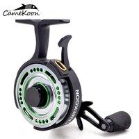 CAMEKOON FL501L Inline Ice Fishing Reel 2.5:1 Gear Ratio 4 Ball Bearings Freefall Left Handed Retrieve Raft Fishing Coil