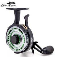 CAMEKOON FL501L moulinet de pêche sur glace en ligne 2.5: 1 rapport de vitesse 4 roulements à billes chute libre gaucher récupérer radeau bobine de pêche