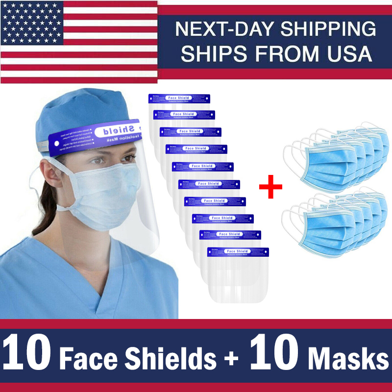 Ship Face Sheild Safety-Protection Transparent Plastic Usa-Stock Splash-Proof Outdoor