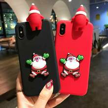 Christmas TPU Cases For Samsung Galaxy A3 A5 A7 J3 J5 J7 Pro 2017 J330 J530 J730 Cute 3D Santa Claus Happy New Year Cover Fundas(China)