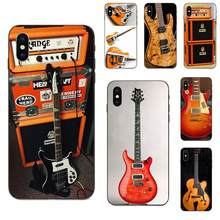 Case For Samsung Galaxy A3 A5 A6 A6s A7 A8 A9 A10 A20E A30 A40 A50 A60 A70 Star Plus 2018 Orange Guitar Electric Amp Amplifier(China)
