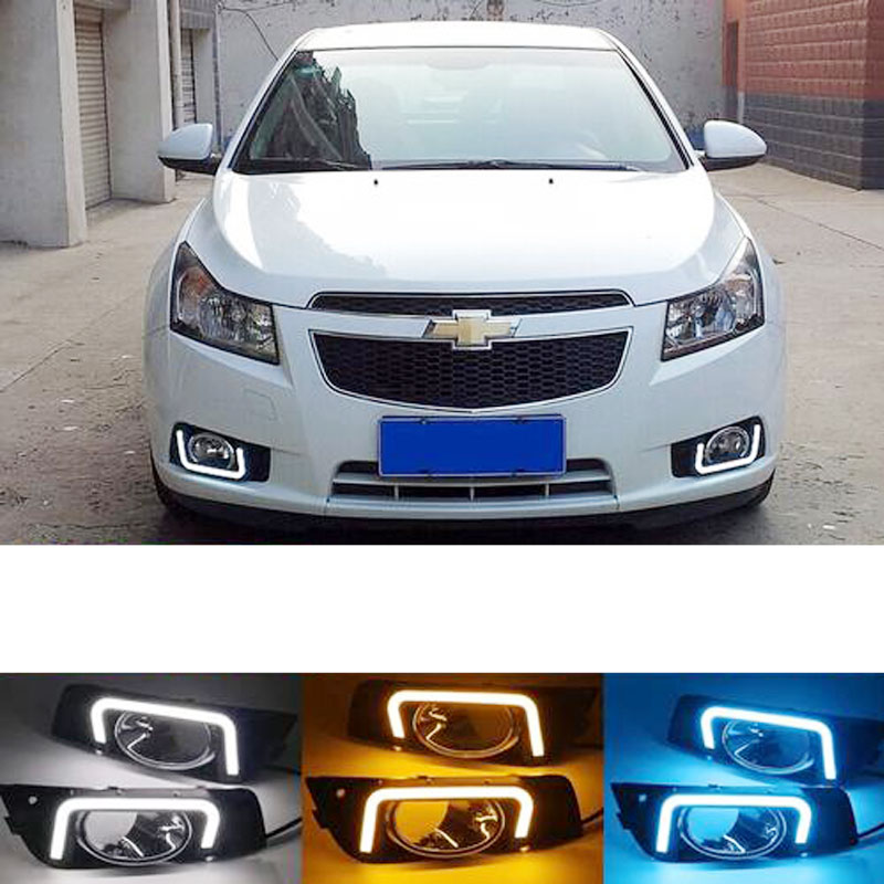 LED Fog Light For Chevrolet Cruze Headlight 2009-2014 Fog Lights Headlights Fog Lamp DRL Daytime Running Lights Foglights Grille