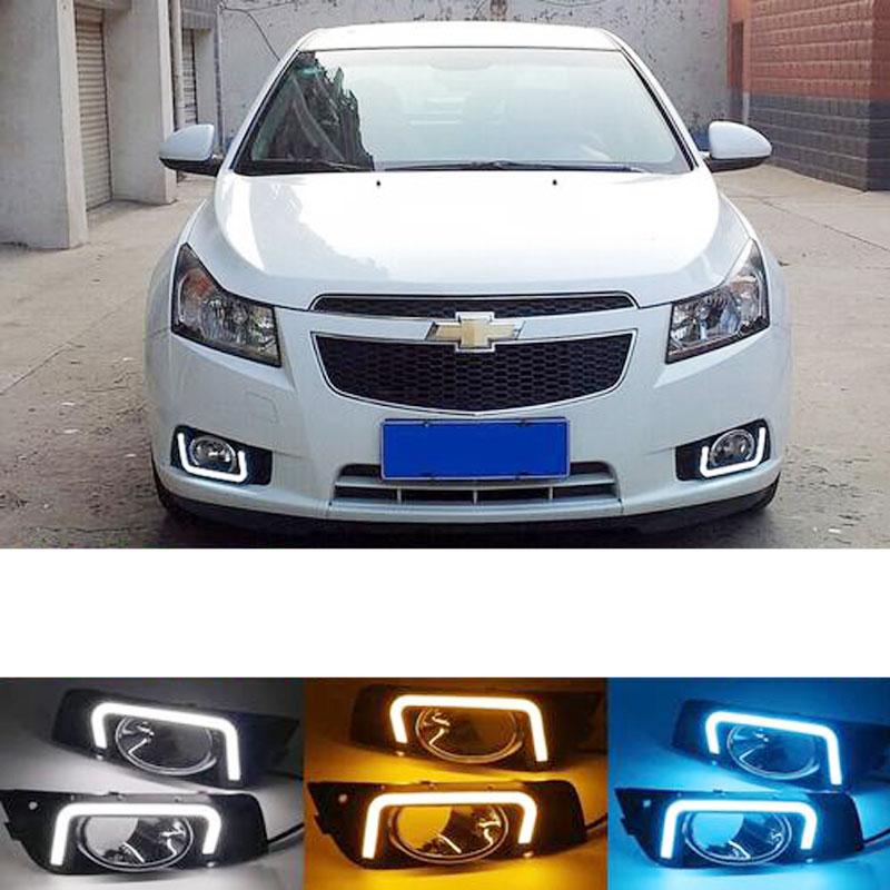 LED Fog Light For Chevrolet Cruze Headlight 2009-2014 Fog Lights Headlights Fog Lamp DRL Daytime Running Lights Foglights Grille