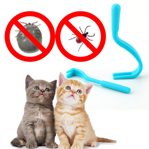 NICEYARD 2pcs/set Human Flea Tweezers Pet Comb Scratching Flea Hook Tick Remover Tools Dog Cat Groomer Louse Hook Pet Supplies(China)
