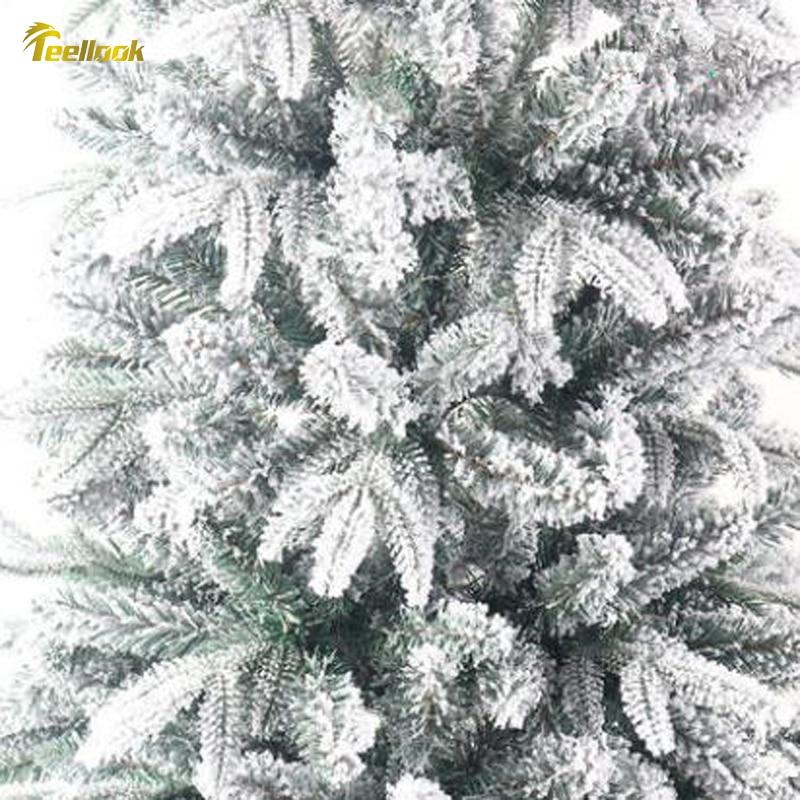 Teellook 1,2 м/3,0 м Снежная Рождественская елка PE + ПВХ материал светодиодный светильник источник Новый год Рождество отель украшение дома - 4