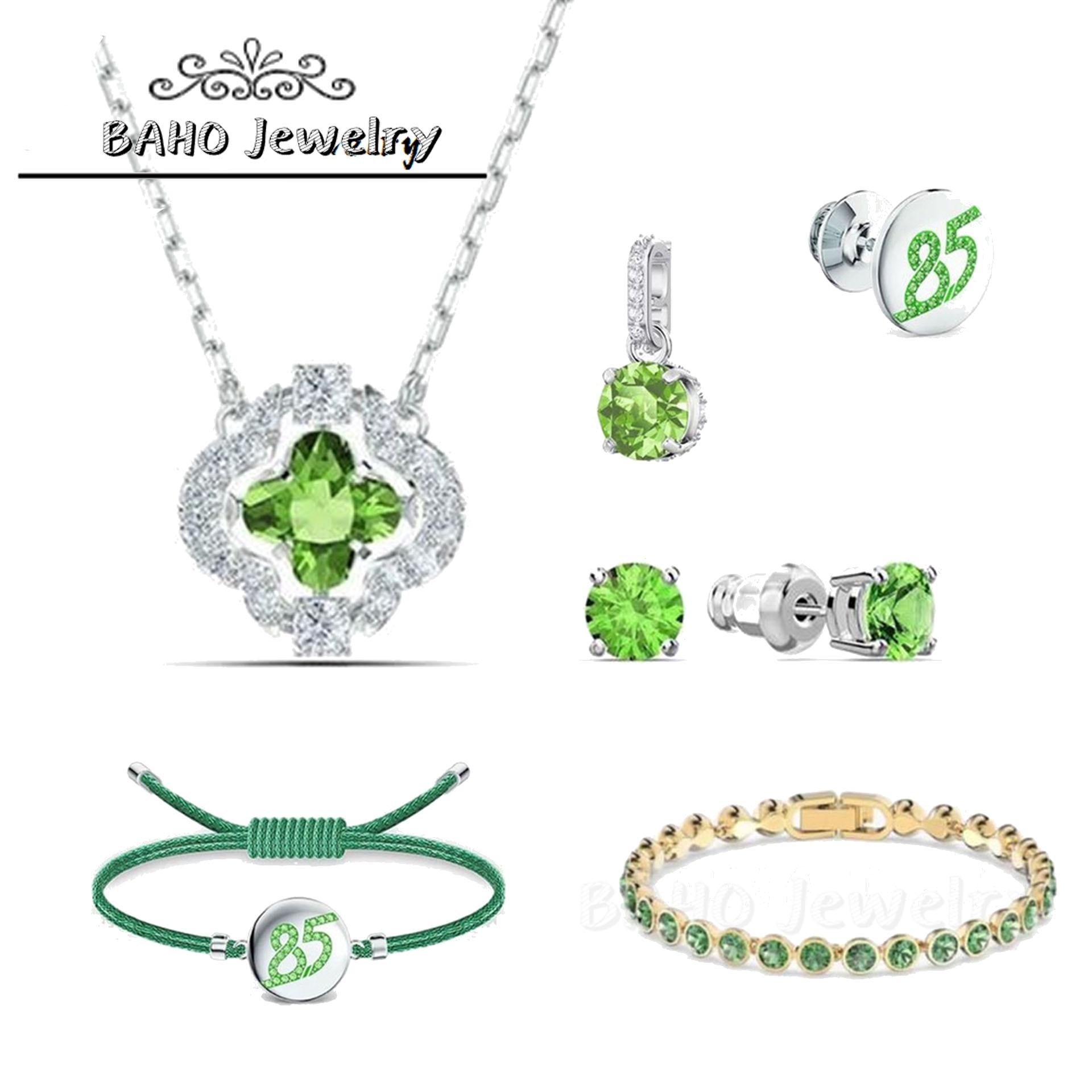 SWA1:1 оригинальные модные ювелирные изделия 2020 Новая зеленая серия, очаровательное 85 женское изысканное ожерелье с кулоном романтический по...