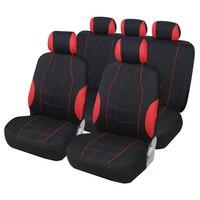 Cobertura completa de fibra linho cobertura assento do carro assentos automóvel capas para audi a7 audi a8 audi q3 auv q5 suv q7 q8 quattro Capas p/ assento de automóveis     -