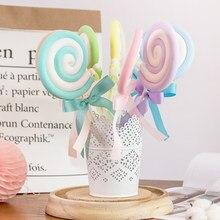 Tablero de ondas de simulación para niños, lollipop de malvavisco, accesorios de fotografía, mesa de postres de boda, diseño de caramelos falsos, decoración