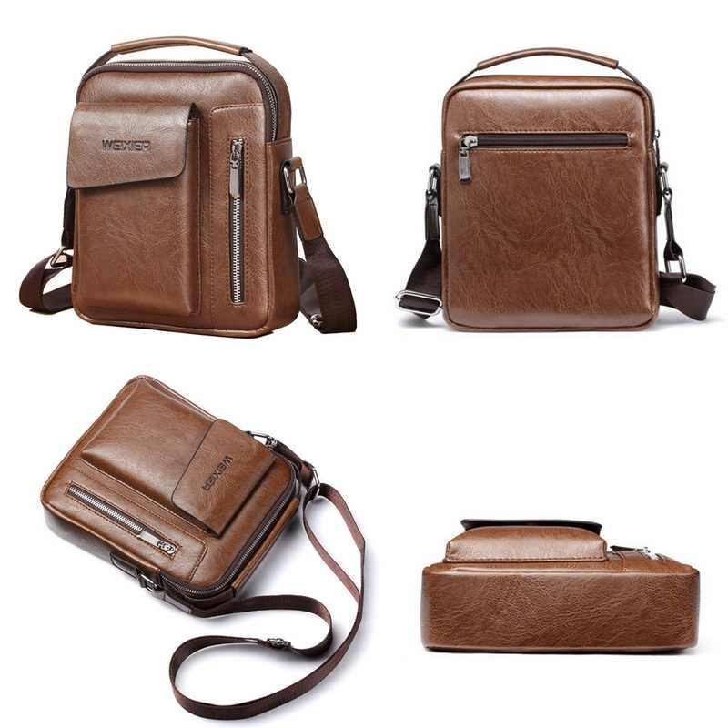 Shujin Mannen Aktetas Tas Hoge Kwaliteit Zakelijke Lederen Schouder Messenger Bags Kantoor Handtas Laptop Tas Bolso Hombre