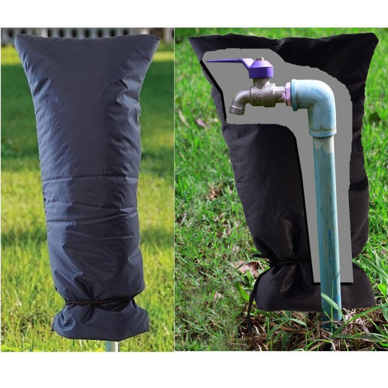 Winter Anti-Frozen Durable Oxford Cloth Strap Water Tap Waterproof Faucet Protection Cover Outdoors Faucet Anti-freeze Supplies