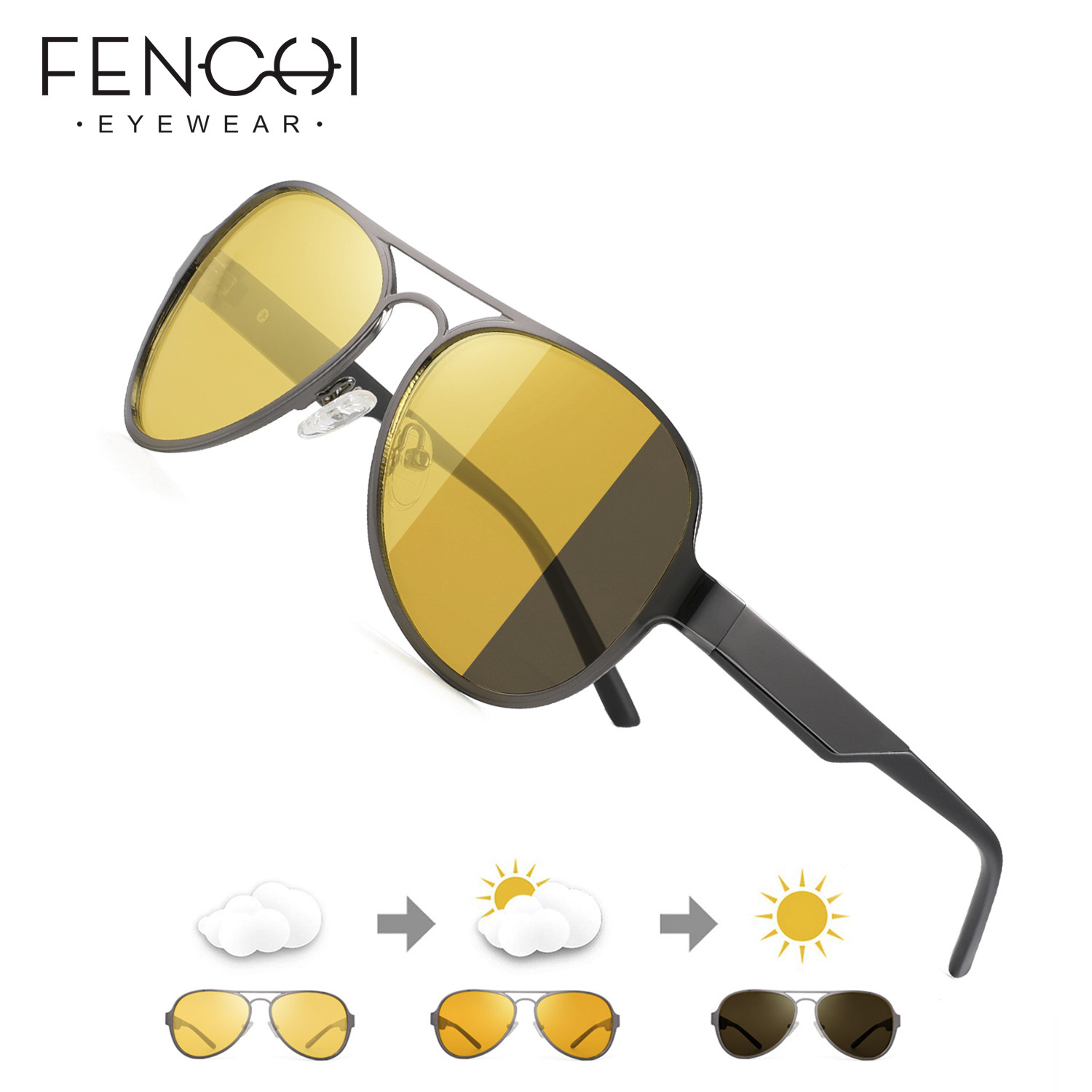 Vision Nocturna Men Night Vision Glasses Polarized Lens Yellow Sunglasses Driving Night Vision Goggles For Car Oculos Masculino
