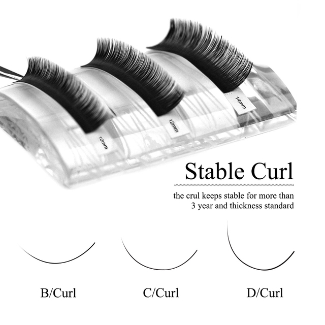 Individual Eyelash Extension Faux Mink Eyelash Curl B/C/CC/D 0.03-0.25mm Thickness Classical Eyelashes Maquiagem Cilios Eye Lash 2