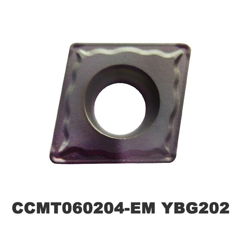 50 pces carboneto inserir CCMT060204-EM torneamento ferramenta