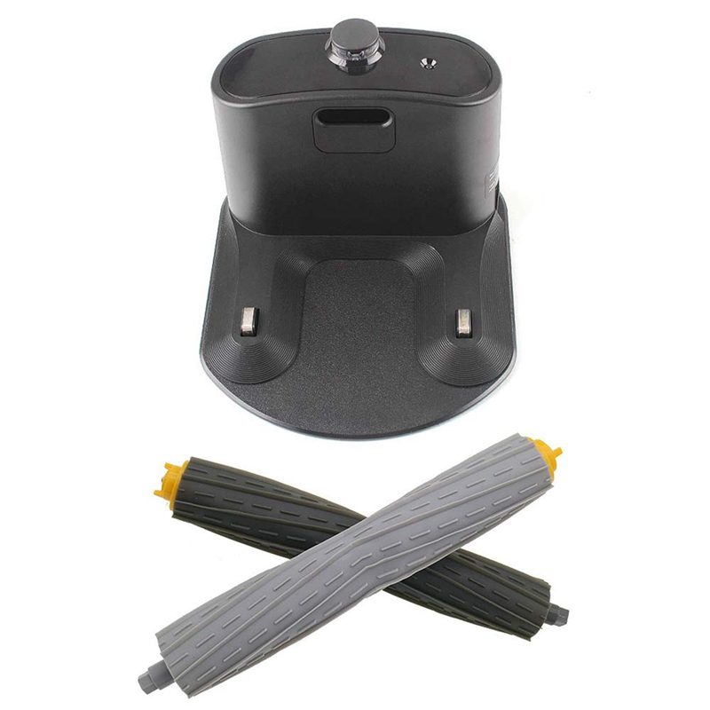 SANQ Home Base Charging Dock and One Pair Front Rear Debris Extractor for IRobot Roomba 800, 900 Series 880 870 877 890 860 980