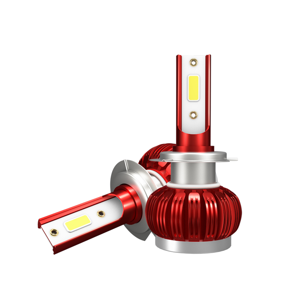 2pcs H7 3000K/H1 8000K  LED Headlight Yellow Chip Bulbs IP68